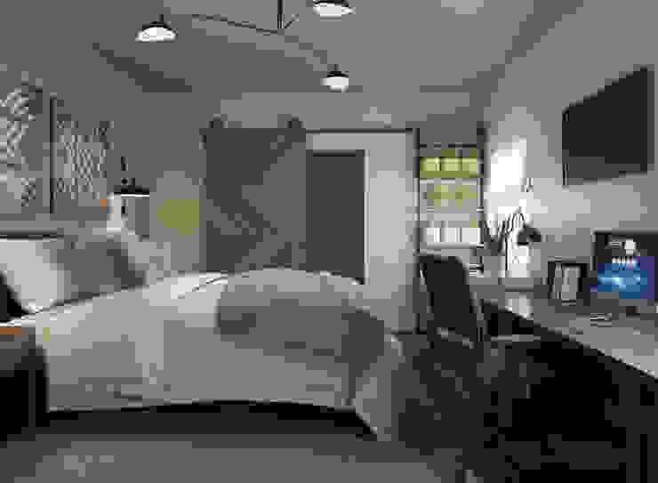 Dormitorio loft Glancing EYE - Asesoramiento y decoración en diseños 3D Dormitorios de estilo moderno