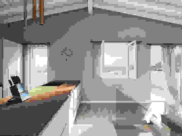 Spazio - Ristrutturazioni Built-in kitchens Grey