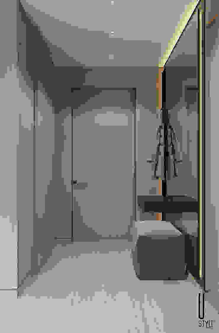 YOUSUPOVA Pasillos, halls y escaleras minimalistas