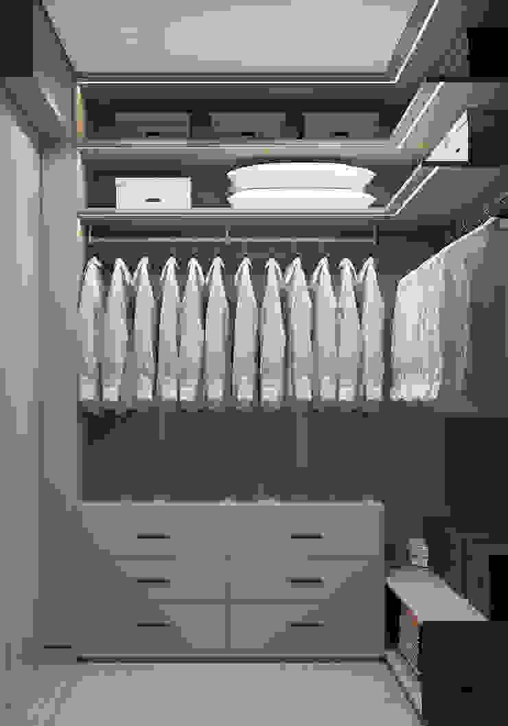 YOUSUPOVA Walk in closets de estilo minimalista