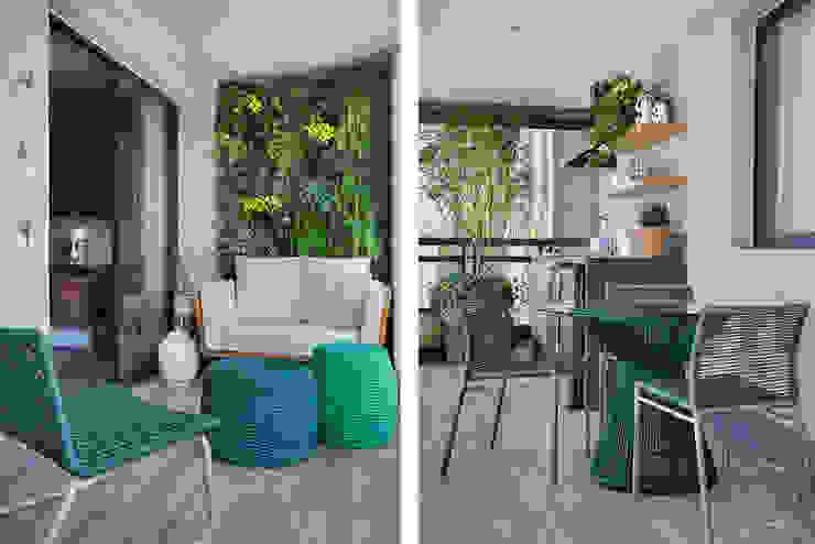 fpr Studio Balconies, verandas & terraces Furniture Green
