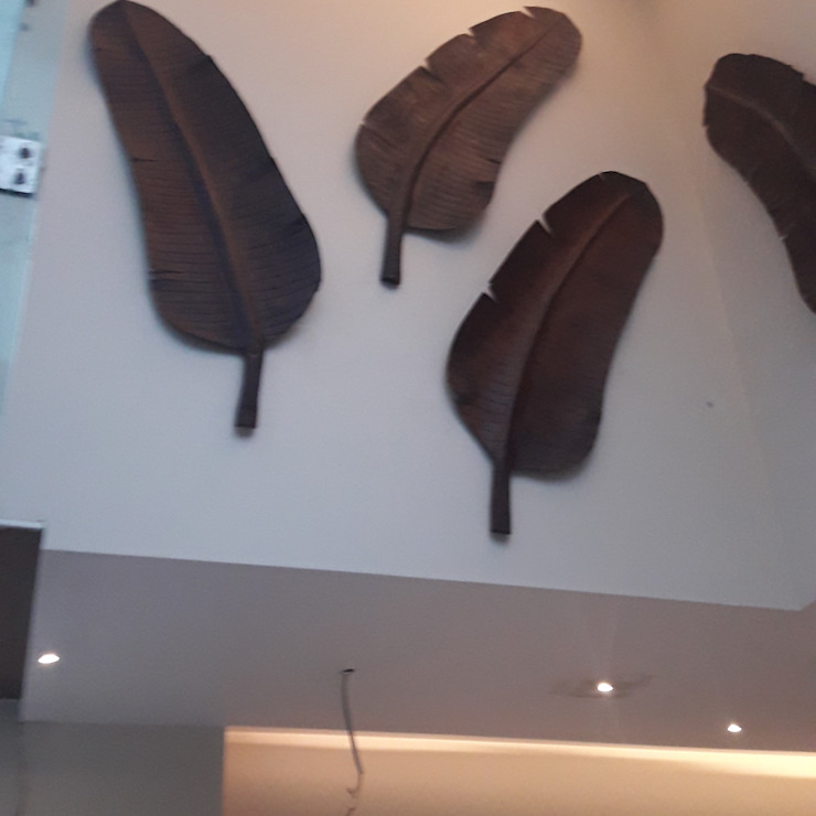 BANANA LEAF ART WORK FOR WALL mrittika, the sculpture 度假別墅 金屬 Brown