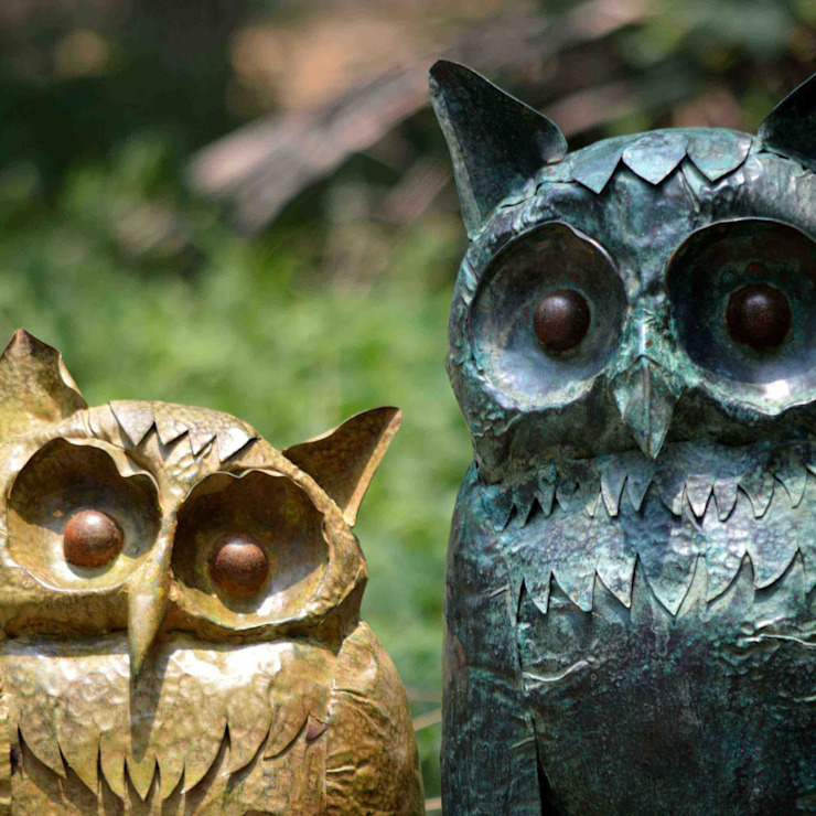 OWL SCULPTURE mrittika, the sculpture 陽台 銅/青銅/黃銅 Blue