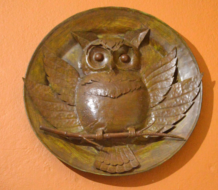 OWL SCULPTURE mrittika, the sculpture 陽台 銅/青銅/黃銅 Brown