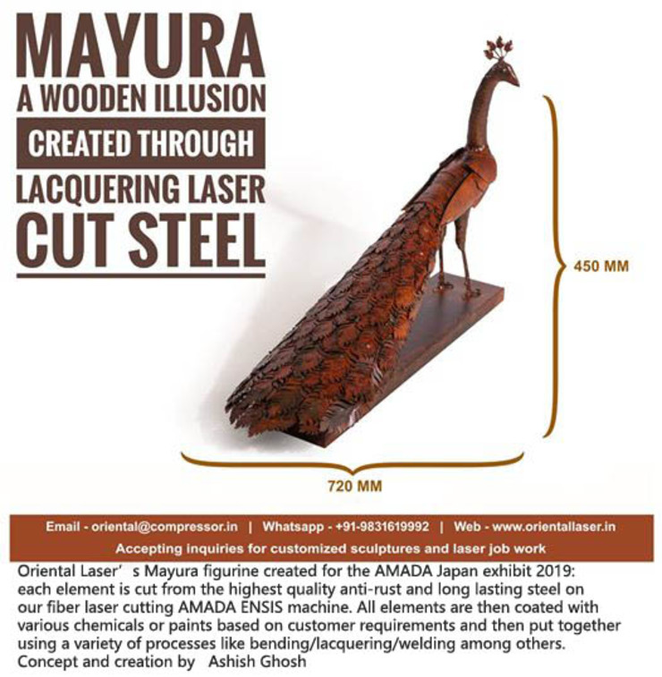 mayura mrittika, the sculpture 客廳 金屬 Brown
