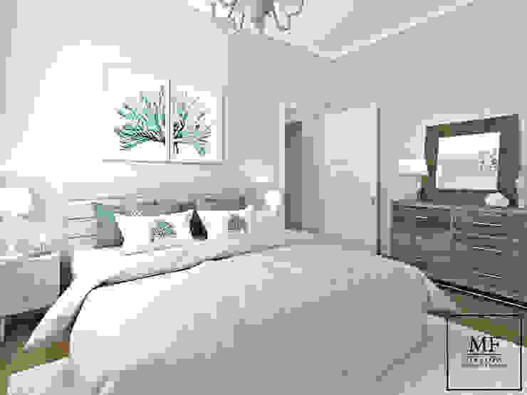 Camera da letto padronale Camera da letto in stile mediterraneo di MF Studio Design Mediterraneo