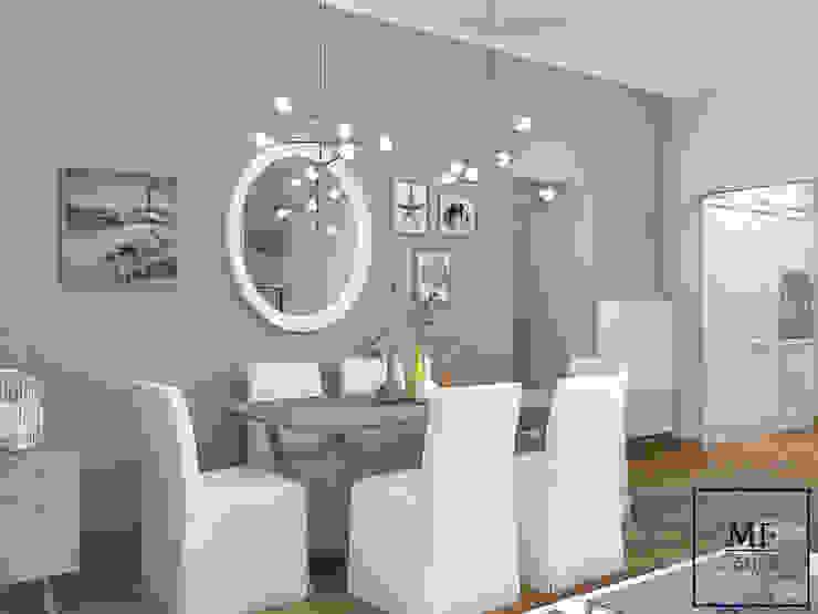 Sala da pranzo interna Sala da pranzo in stile mediterraneo di MF Studio Design Mediterraneo