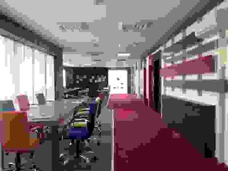 Açık Ofis Koridor - Duvar Tasarımı LAMONETA DESIGN & PRODUCTION Ofis Alanları & Mağazalar Ahşap Rengarenk
