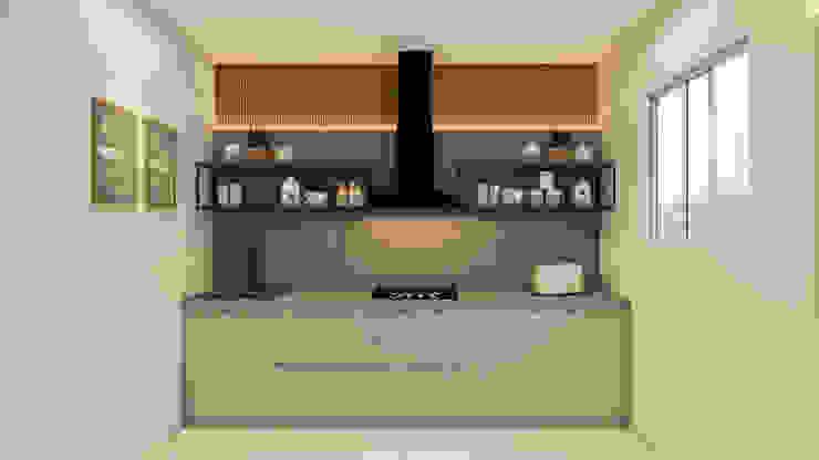 Residential Apartment Studio Emerald Small kitchens