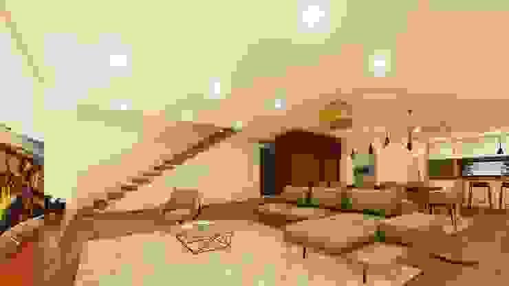 Casa da escola Salas de estar modernas por Miguel Zarcos Palma Moderno