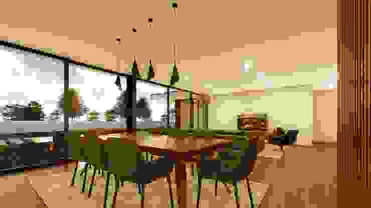 Casa da Escola Salas de jantar modernas por Miguel Zarcos Palma Moderno