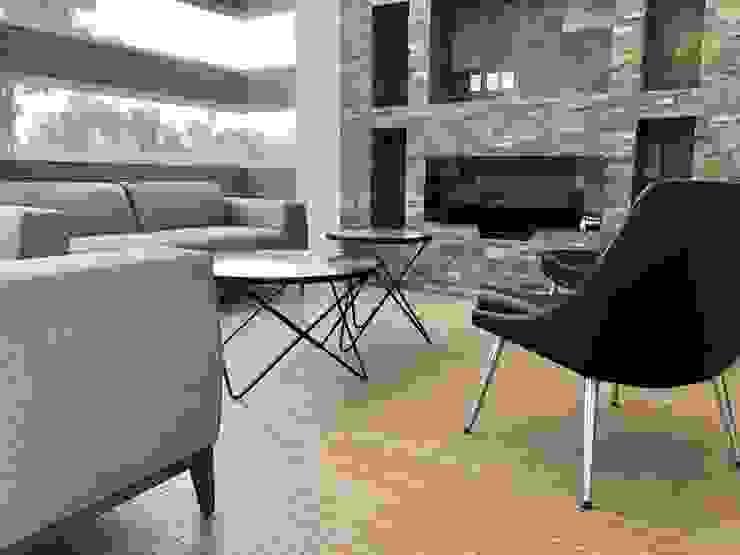 Alejandra Zavala P. Living roomAccessories & decoration Textile Grey