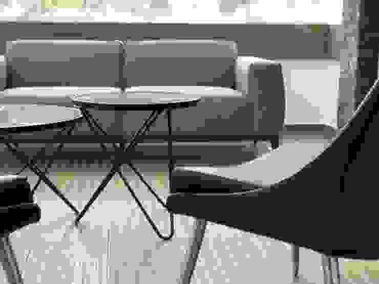 Alejandra Zavala P. Living roomSofas & armchairs Leather Orange