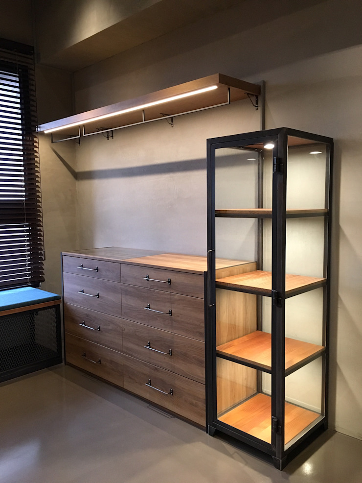 客製化櫃體設計製作 銳龍工藝設計 BedroomWardrobes & closets Iron/Steel Black