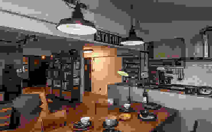 銳龍工藝設計 Living roomShelves Wood Black