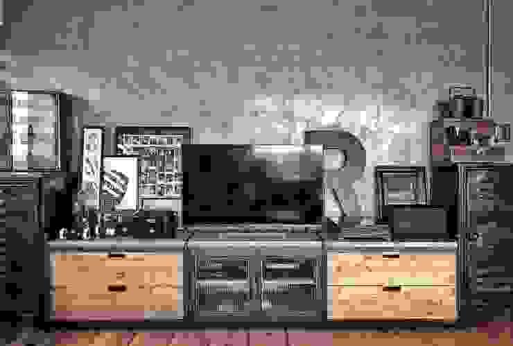 客製化櫃體設計製作 銳龍工藝設計 Living roomTV stands & cabinets Solid Wood Black
