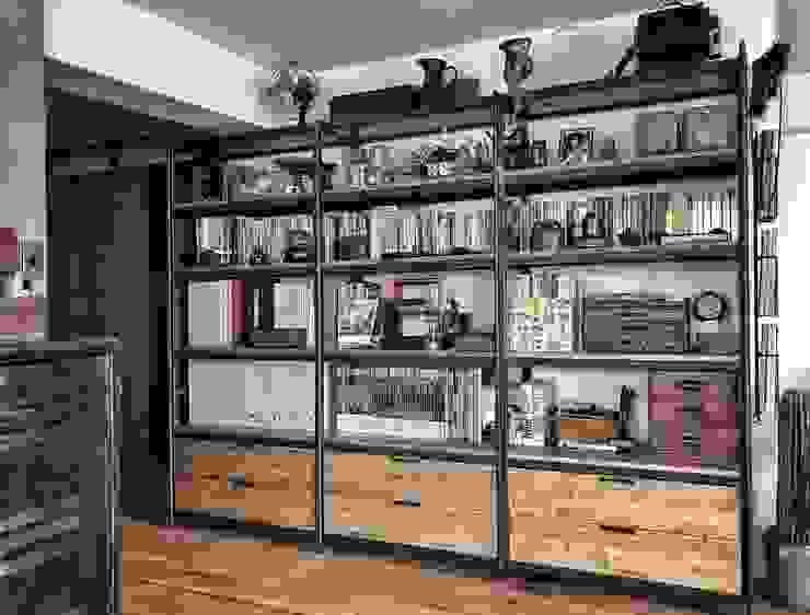 客製化櫃體設計製作 銳龍工藝設計 Study/officeStorage Wood Black