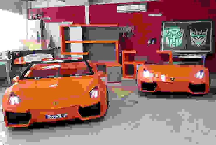 Increíble recamara de Lamborghini de Kids Wolrd- Recamaras Literas y Muebles para niños Moderno Derivados de madera Transparente