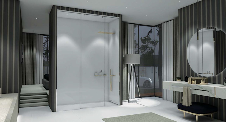 Fator Banho 現代浴室設計點子、靈感&圖片