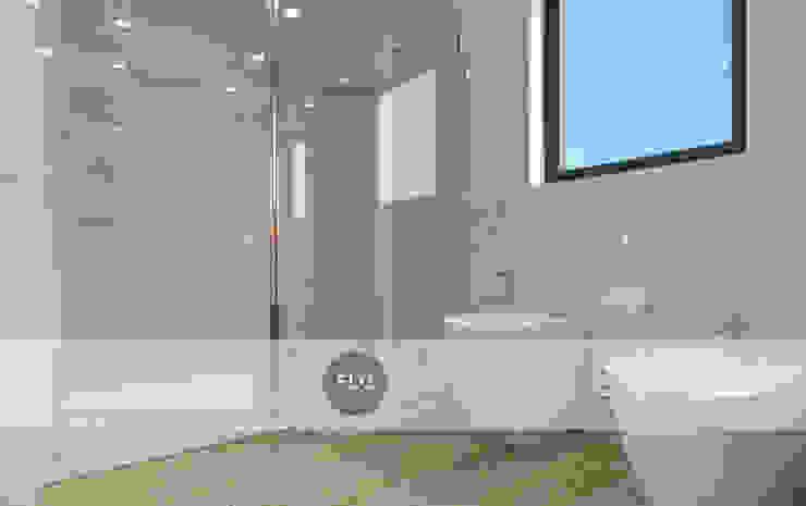 Moradia Pré-Fabricada Casas de banho minimalistas por FLGarciaDesign Minimalista