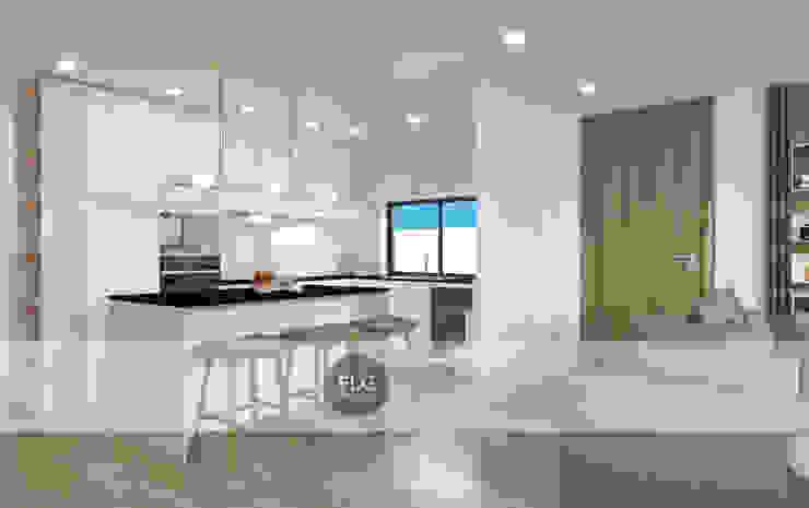 Moradia Pré-Fabricada Cozinhas minimalistas por FLGarciaDesign Minimalista