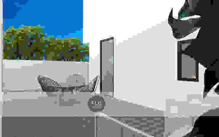 Moradia Pré-Fabricada por FLGarciaDesign Minimalista