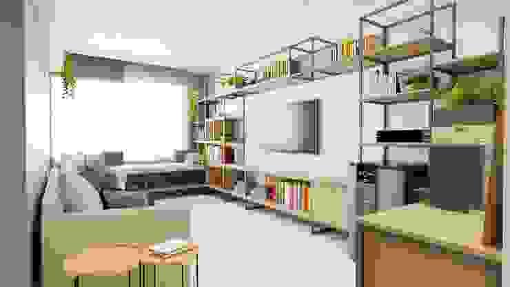 Sala de TV Elisa Bastos Arquitetura Salas multimídia industriais