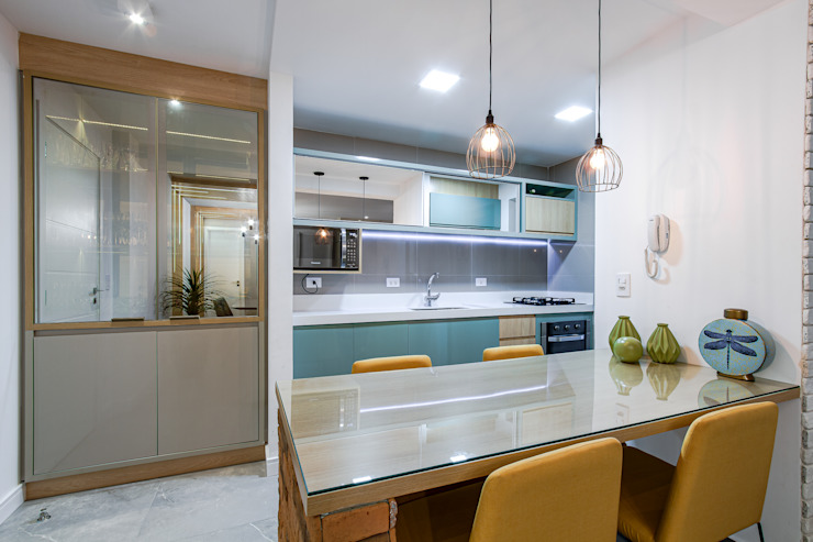 Sgabello Interiores KitchenCabinets & shelves MDF Turquoise