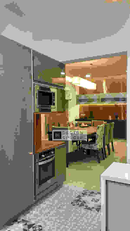 Modern minimal DESIGN SPECIES KitchenCabinets & shelves Beige