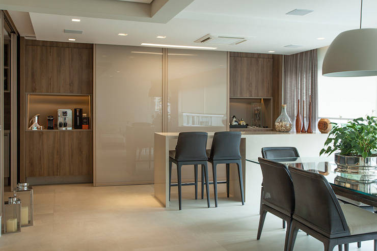 Bianka Mugnatto Design de Interiores Cocinas integrales Vidrio Beige