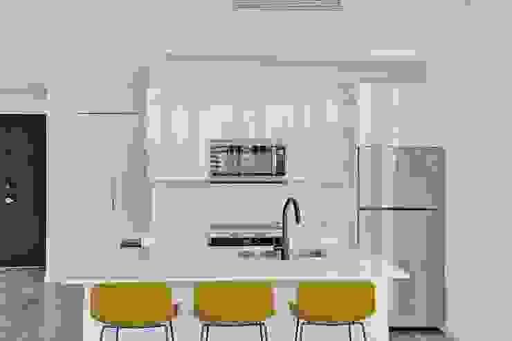Cocina concepto abierto de Shirley Palomino Moderno Contrachapado