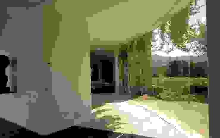 Soggiorno fronte giardino Soggiorno moderno di ROMAZZINO C.S. SERVICE SRL Moderno