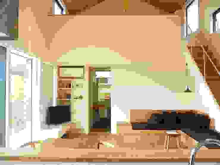House in Mutsuzaki Mimasis Design/ミメイシス デザイン ミニマルデザインの リビング