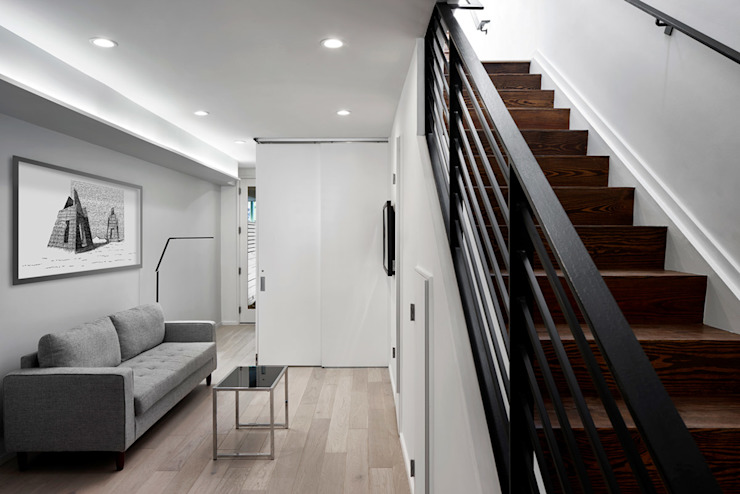 Duvall Court KUBE architecture Modern Corridor, Hallway and Staircase
