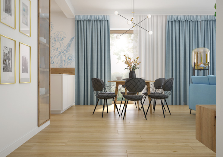 Nevi Studio Comedores de estilo moderno Azul