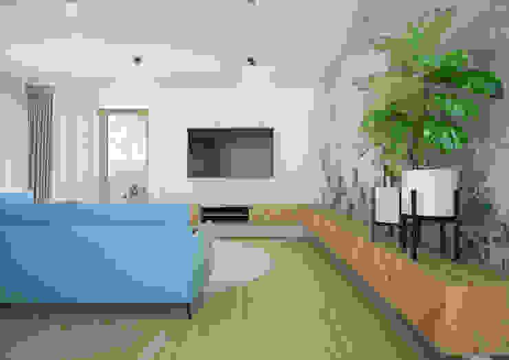 Nevi Studio Livings de estilo moderno Turquesa