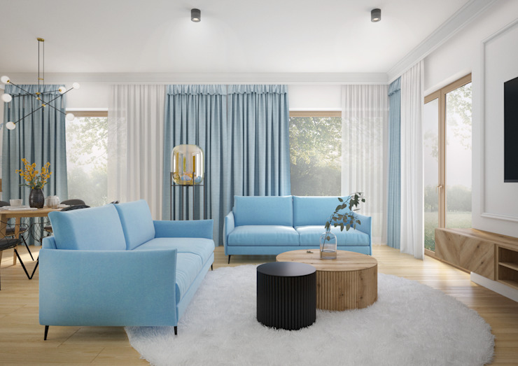Nevi Studio Livings de estilo moderno Azul