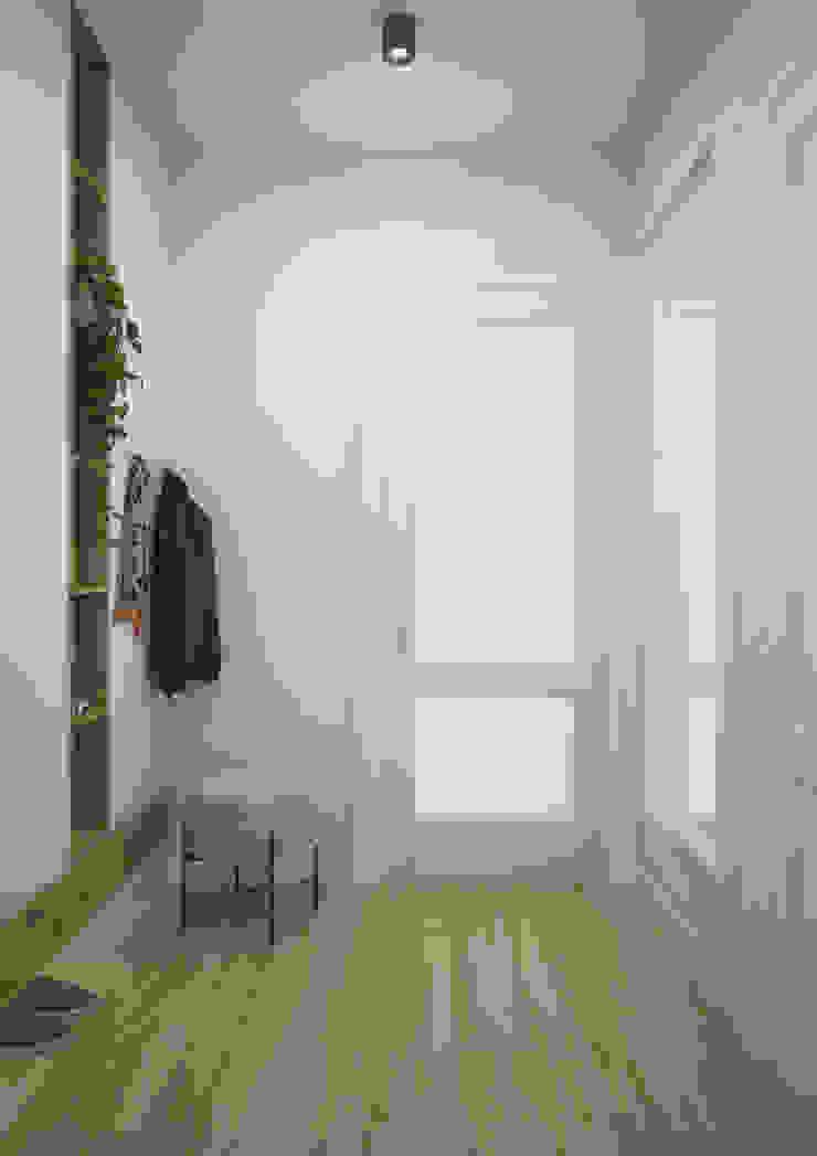 Nevi Studio Pasillos, vestíbulos y escaleras modernos