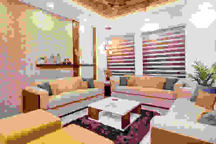Customized Living Room Interiors in Premium Finish DLIFE Home Interiors Modern living room