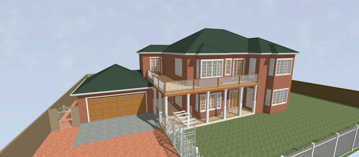 3D Rendered Face Brick Double storey Residential Home Home Design Emporium