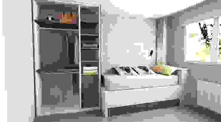 SERRANOS Studio Small bedroom Інженерне дерево Бежевий