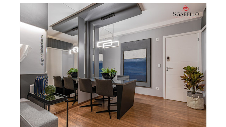 Sgabello Interiores Dining roomTables MDF Black