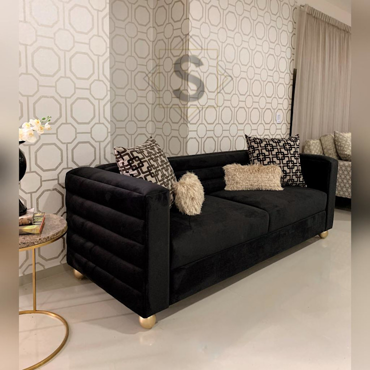 Authentic Black - Sienna Sofa - by Supellex Home de SUPELLEX HOME Moderno Fibra natural Beige