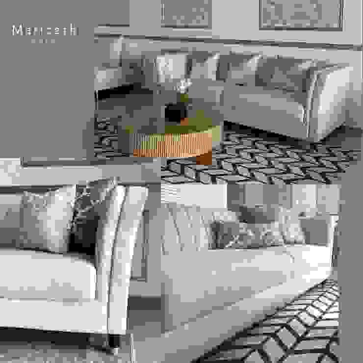 Mariceth Sofa - in linen by Supellex Home de SUPELLEX HOME Moderno Lino Rosa