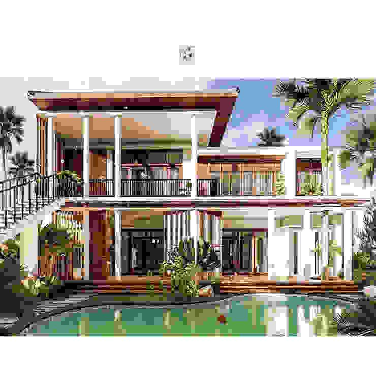 I N Villa View to Bedroom Hotel Tropis Oleh Permanas Design Tropis