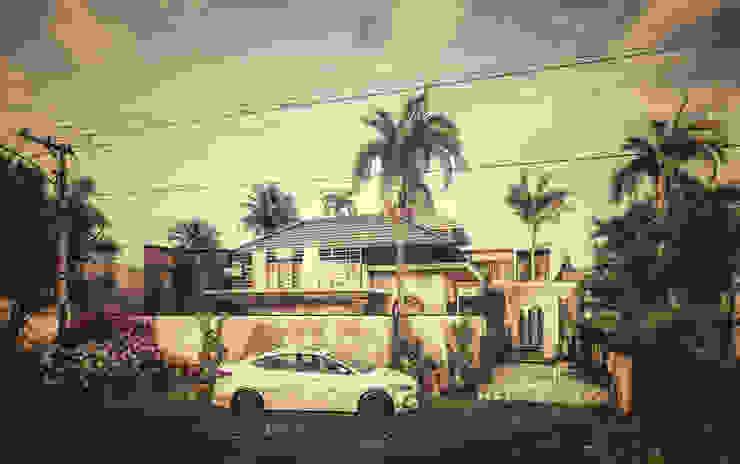 I N Villa Fasad Hotel Tropis Oleh Permanas Design Tropis