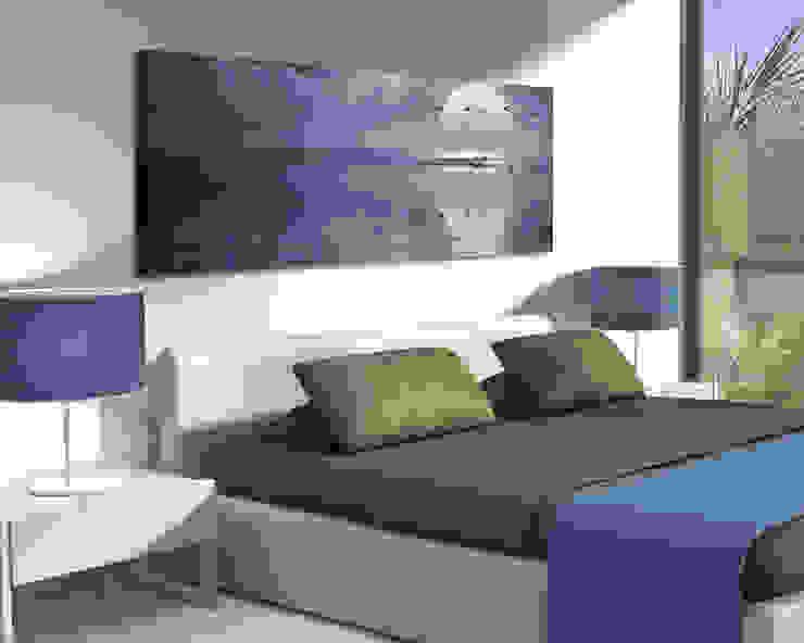 """Quadro moderno """"VOLO DI GABBIANI SUL MARE"""" – Natura – Stampa su tela Camera da letto moderna di INTERNI & DECORI Moderno Legno Effetto legno"""