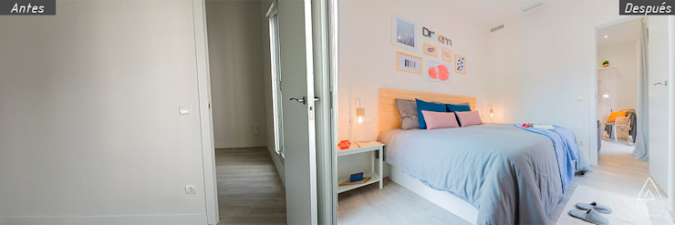 Home Staging apartamento alquiler turístico, Puerta del Angel 2, Madrid Byta Espacios