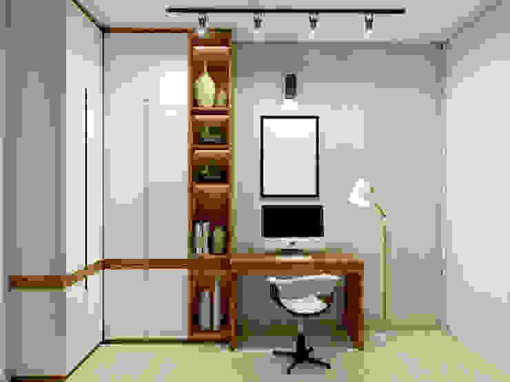 AF arquitetura Skandynawskie domowe biuro i gabinet