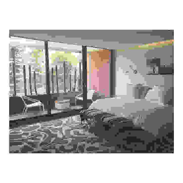 Thomas Löwenstein arquitecto オリジナルスタイルの 寝室 木 ベージュ